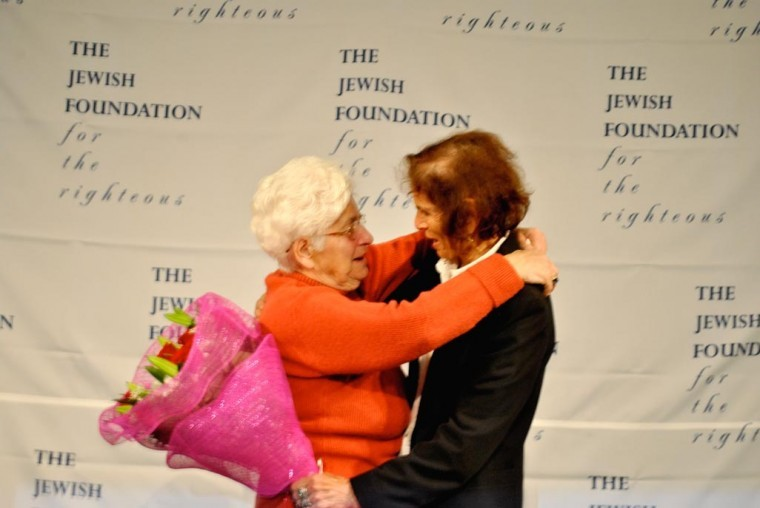 Holocaust survivor reunited with rescuer at JFK  1