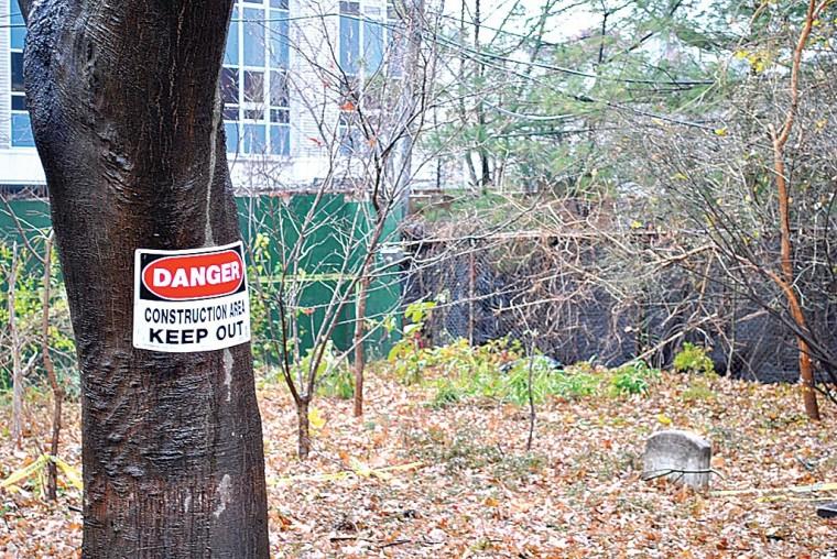 Pole still buried at Quaker cemetery 1