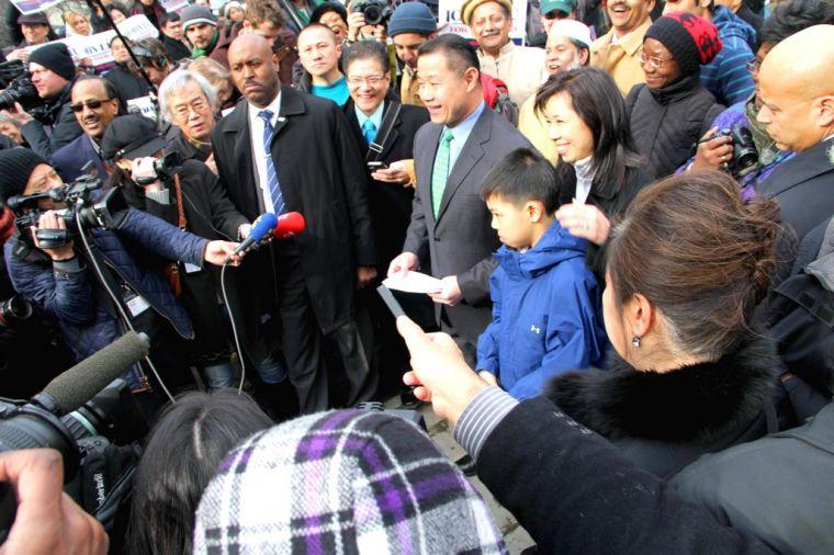 John Liu declares mayoral candidacy 1