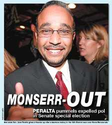 Jose Peralta scores an overwhelming victory against the expelled lawmaker