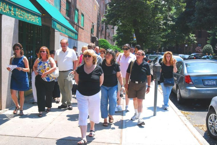 Walking tours for education and exercise