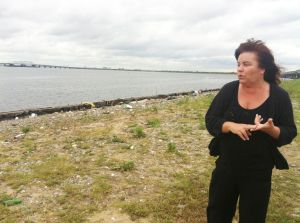 Garbage piles up on bay front site 1