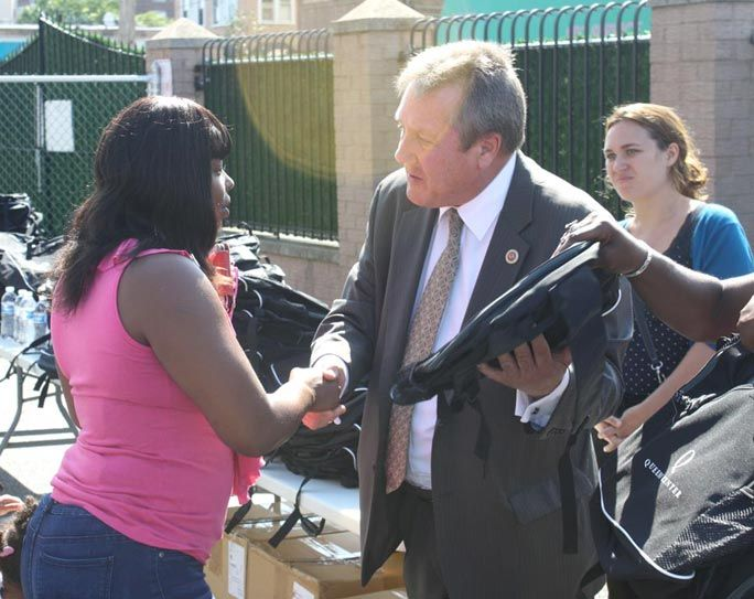 Donated backpacks thrill Pan Am students 1