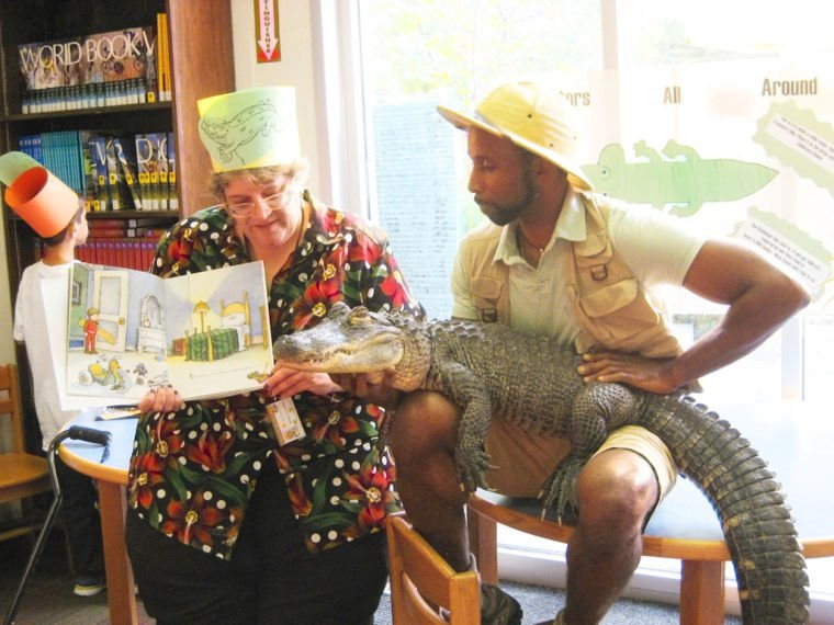 Librarian's promise was no croc 1
