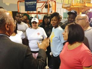 Thompson touts job-creation plan in LIC 1