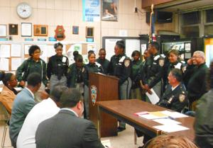 Youths are served at 113th Precinct 1