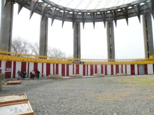 Vandals damage NY State Pavilion 1