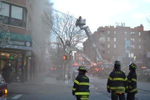 Inferno rips through Jackson Heights building
