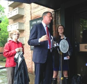 De Blasio, Rozic to DEP: Fix our flood 1