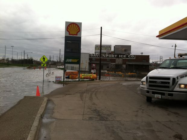 Sara Mini Mart open despite flood