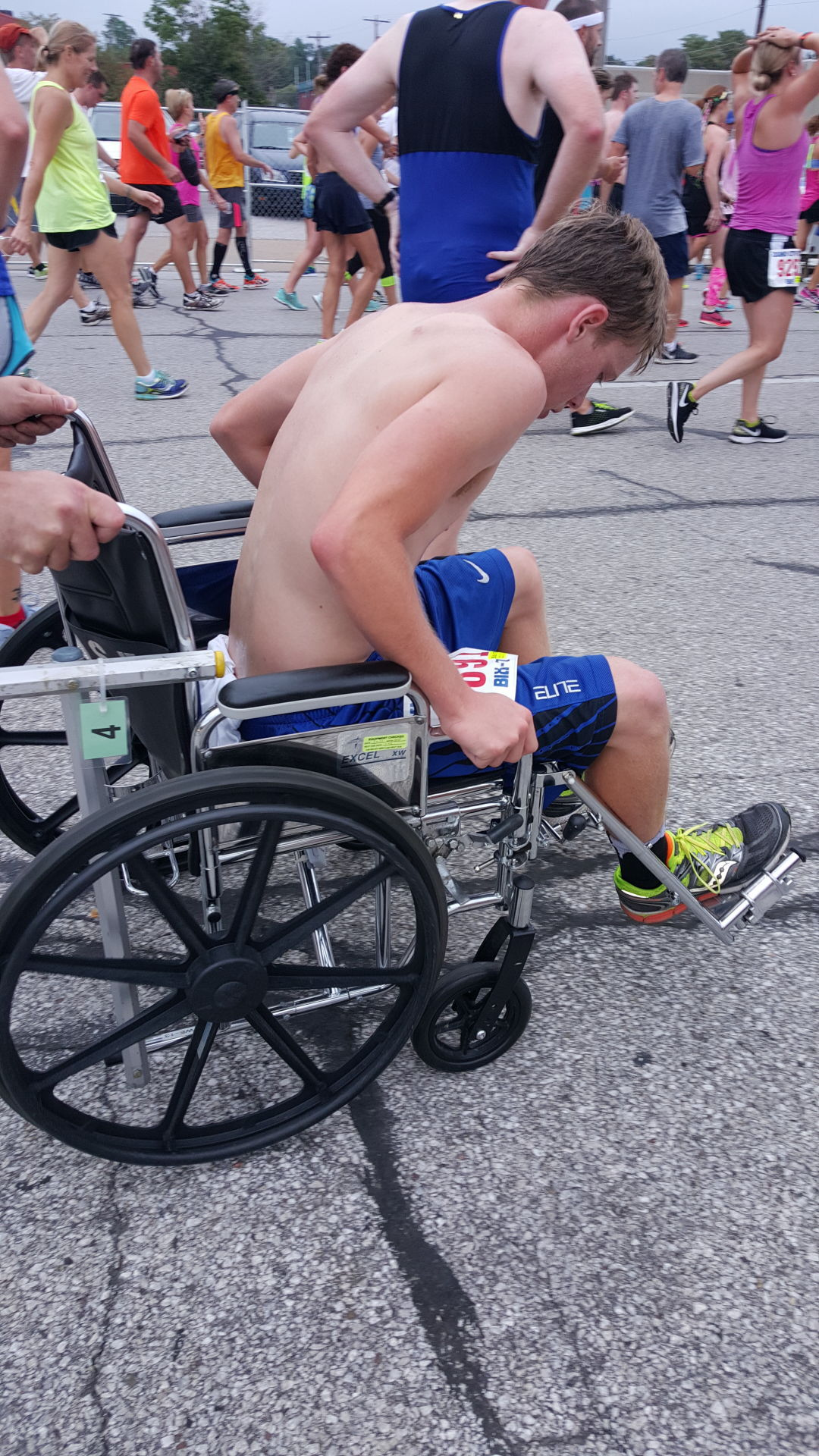 Medical tent adds more wheelchairs to finish line