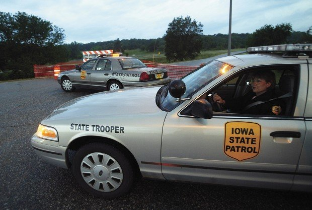 Iowa State Patrol cars