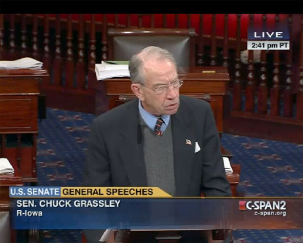 Sen. Grassley on C-span