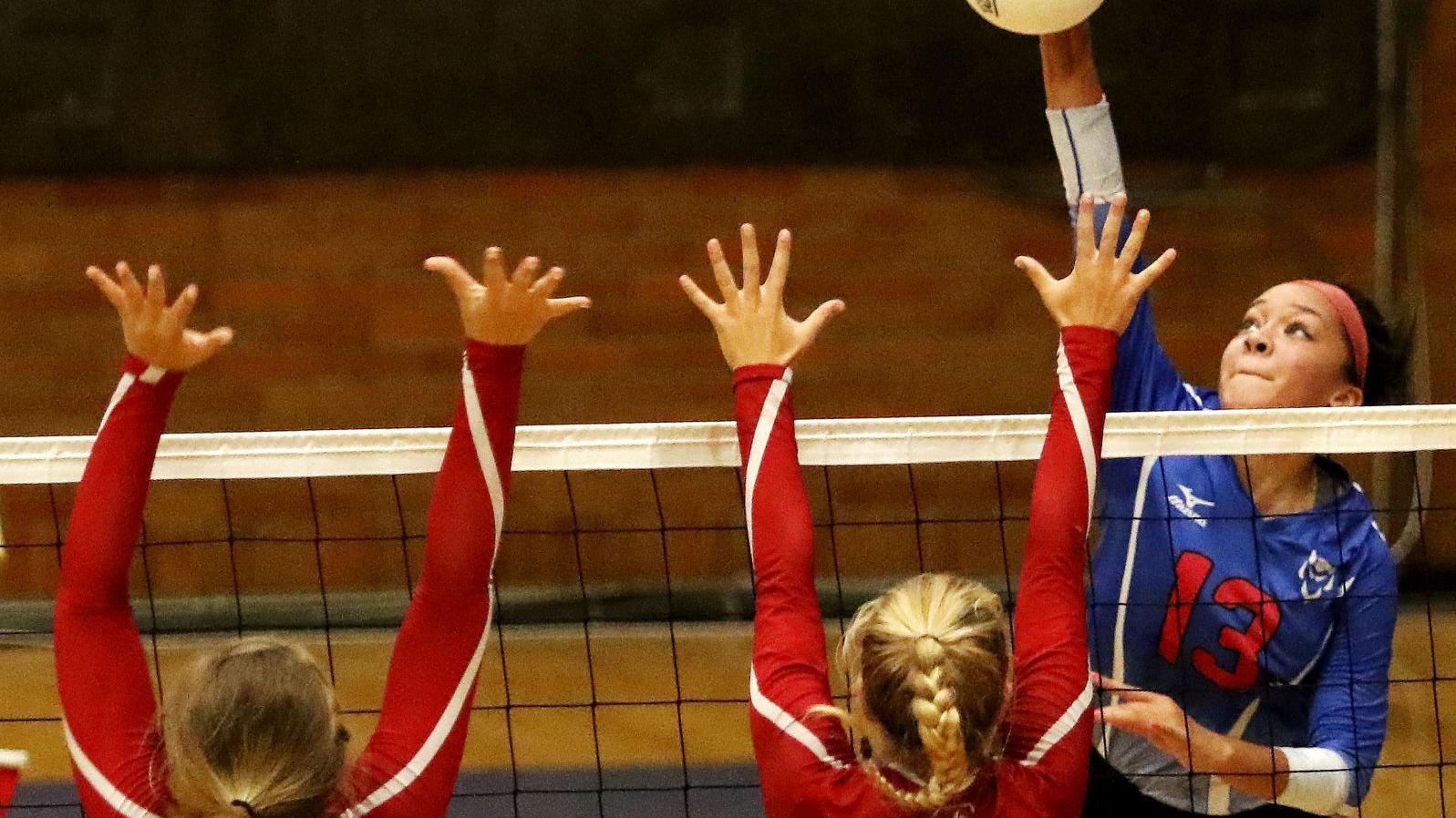 Photos: Assumption @ Central Volleyball | High School Volleyball - QCVarsity.com | qctimes.com