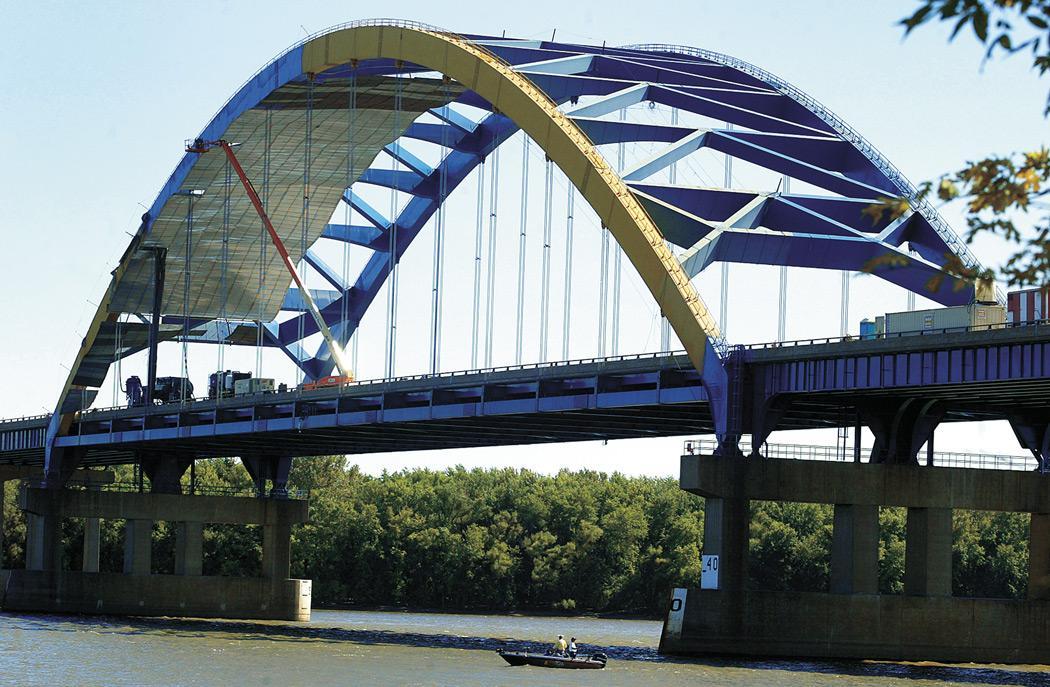 I-280 bridge gets the blues; so long yellow