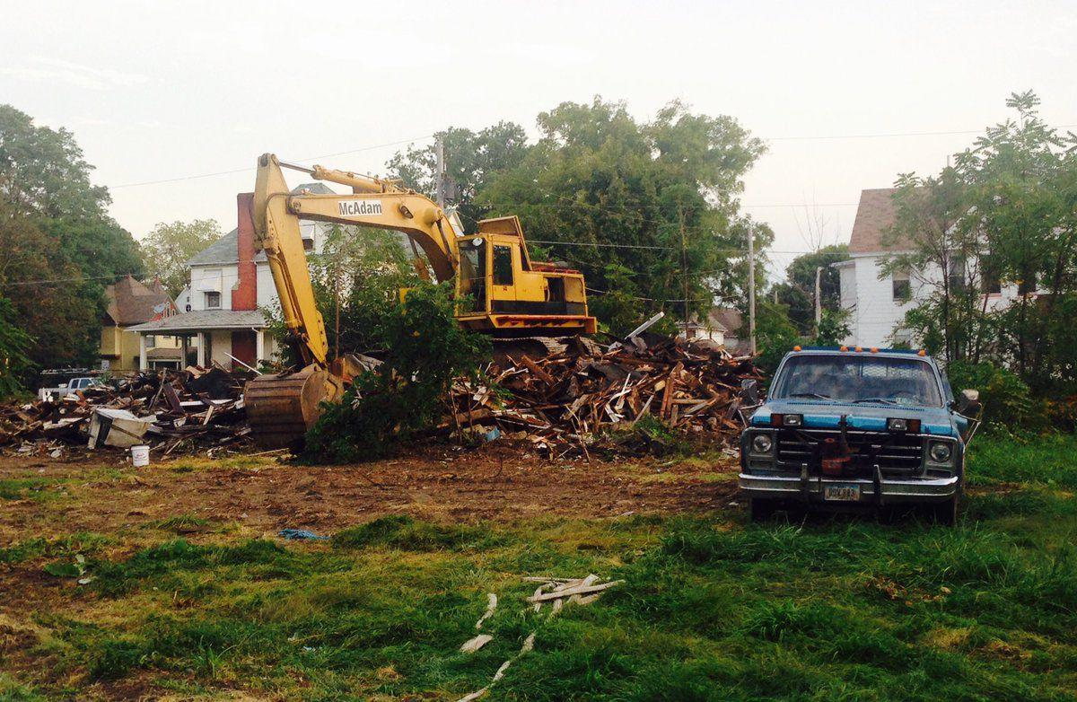 Home demolished