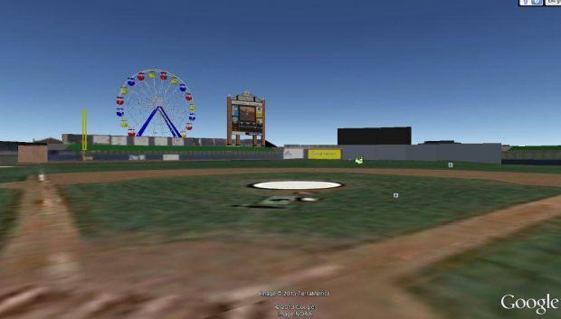 Modern Woodmen Park Ferris wheel