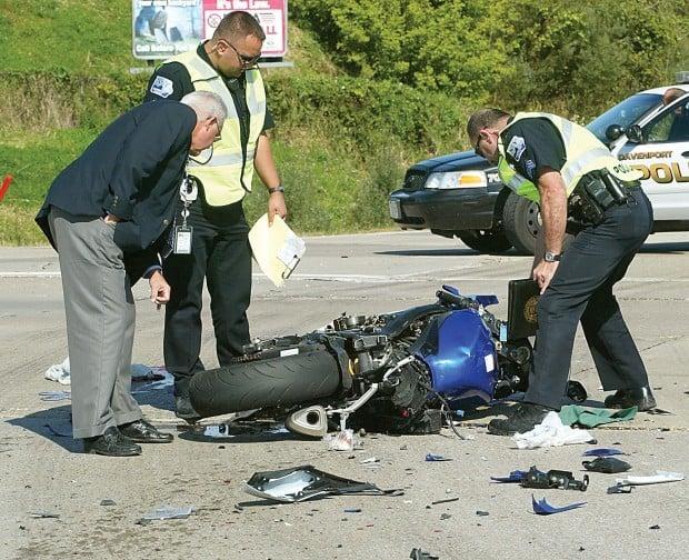 Motorcycle crash Tuesday morning