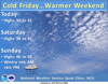 Chilly today, warmer this weekend