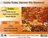 Cloudy this afternoon with a high near 62 degrees
