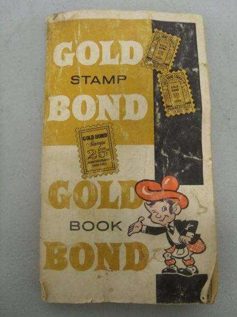 gold bond stamp book