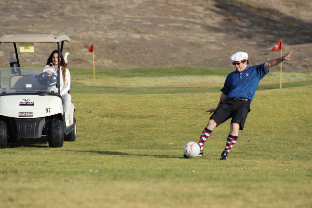 Footgolf in action