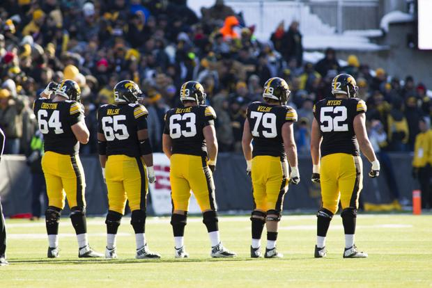Iowa's offensive line is a finalist for national award