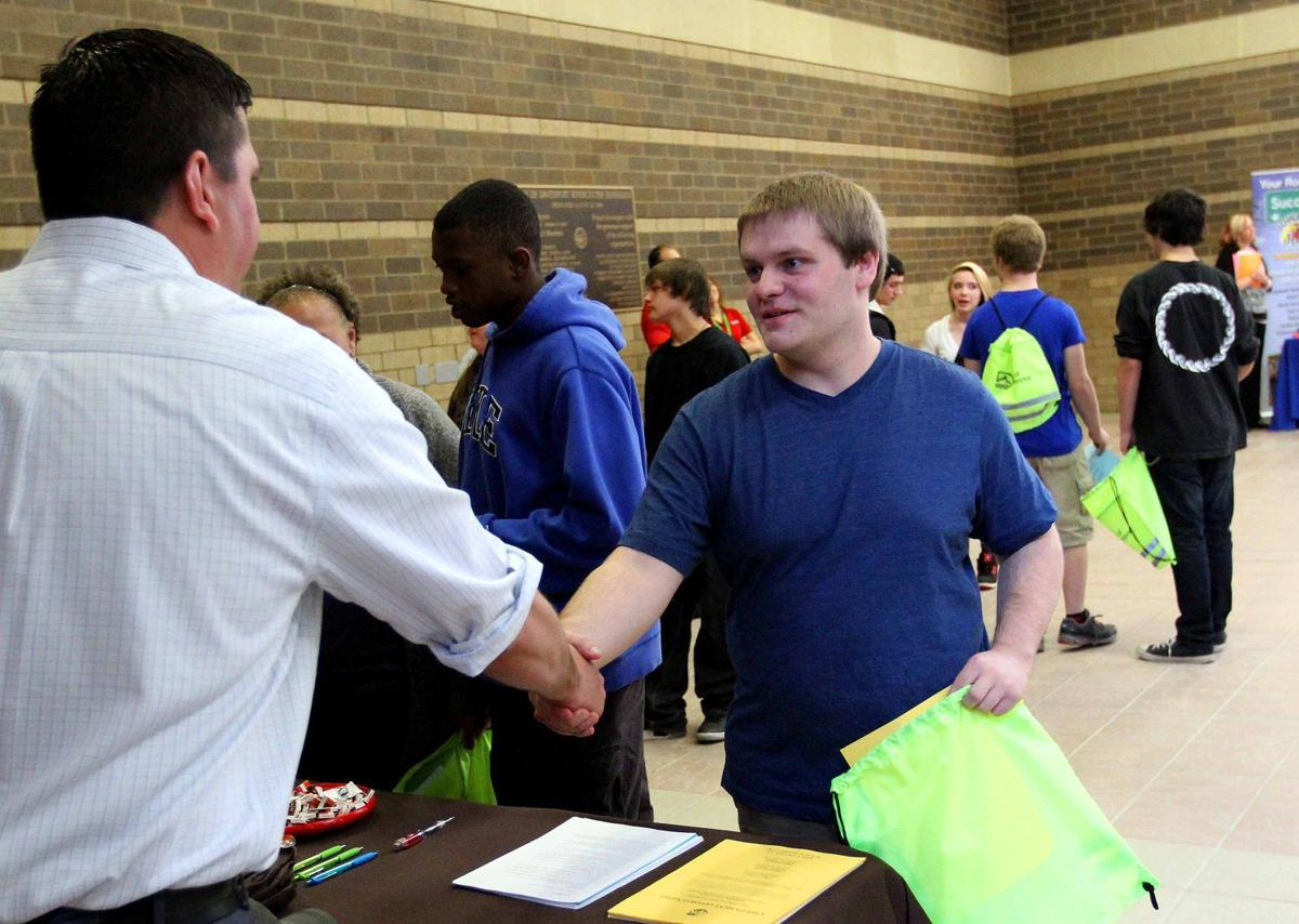 teens by the hundreds hit rivercenter for job fair local news teen job fair
