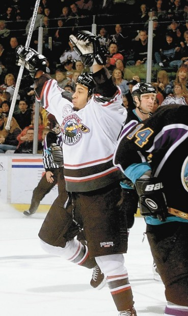 mallards muskegon hockey... 01/20/02
