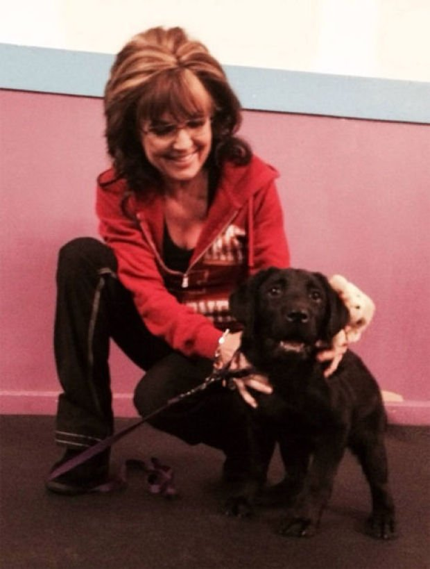 Sarah Palin and Iowa puppy
