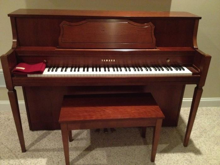 Yamaha piano for sale beautiful cherry wood hardly used for Yamaha dgx640c digital piano cherry