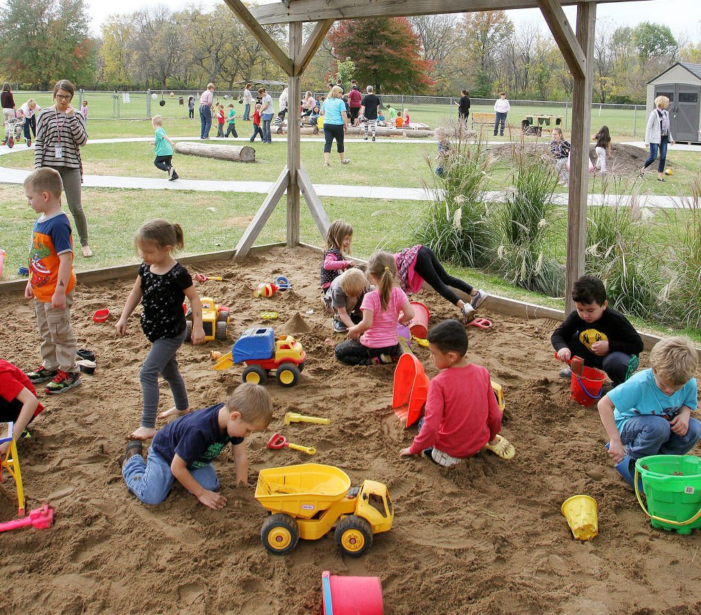 outside play for preschoolers moline preschool opens outdoor play space education center 205