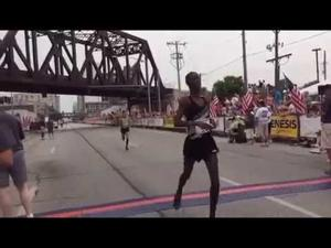 The finish of the Bix 7 road race