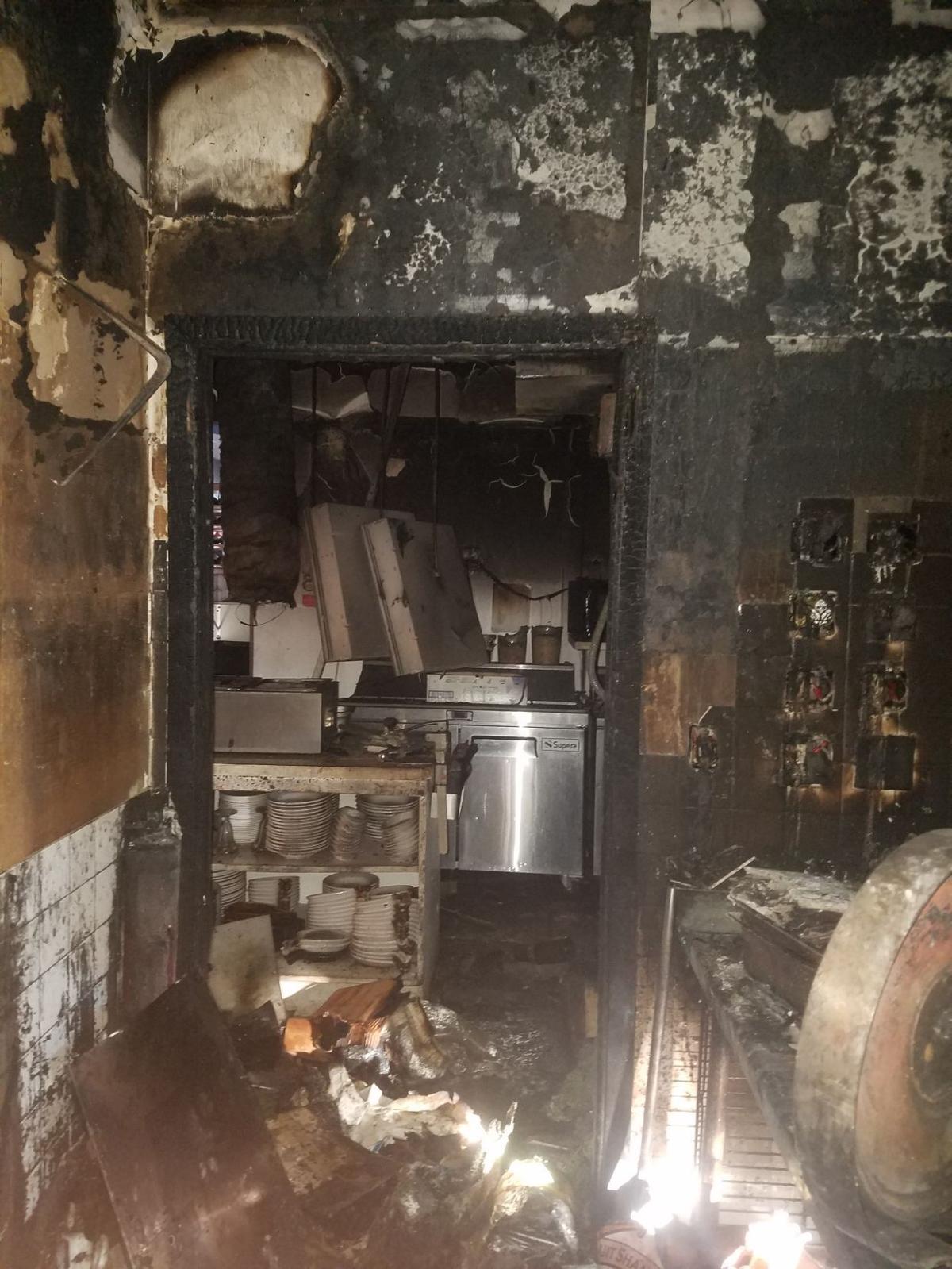 Lunardi's Restaurant after fire
