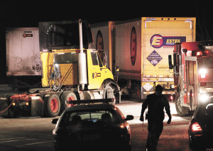 Truck yard fatality investigated for Estes motor freight tracking