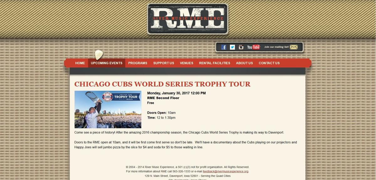 Chicago Cubs World Series Trophy Tour