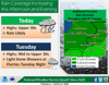 Rain likely this afternoon throughout region