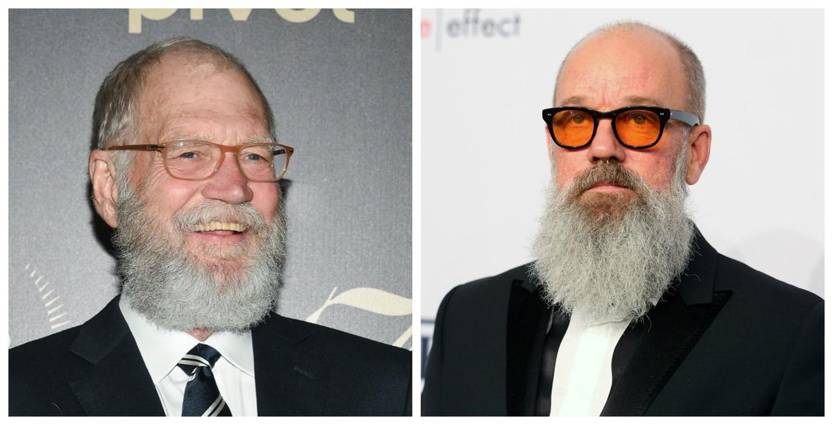 David Letterman and Michael Stipe