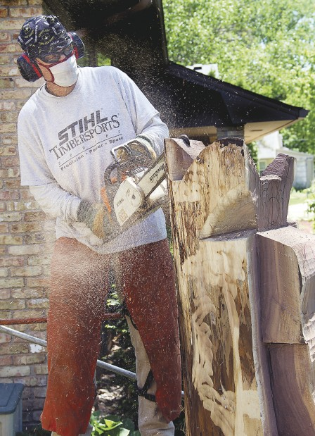 Chain saw carving scheduled saturday local news