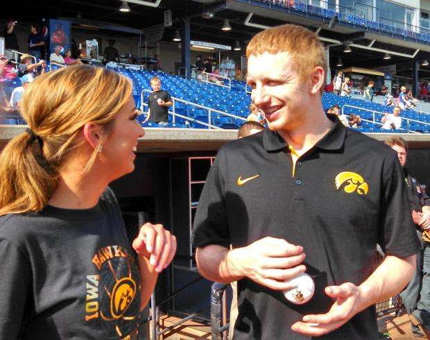 Hawkeyes' Gesell delivers a strike, and a message at Bandits game