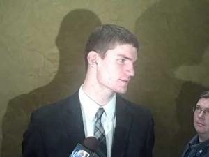 Adam Woodbury on getting 15 rebounds against Penn State
