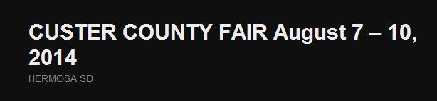Custer County Fair
