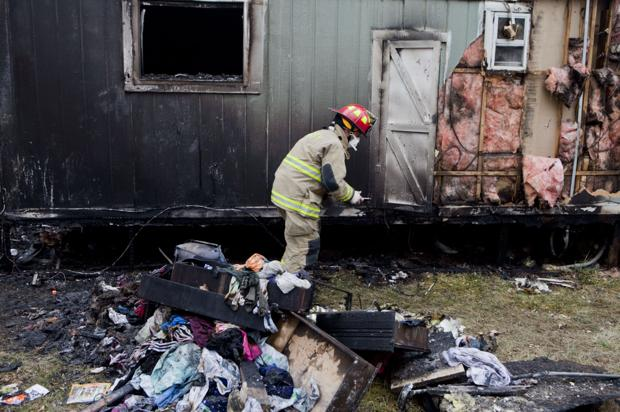 Mobile homes in Rapid City and Box Elder catch fire