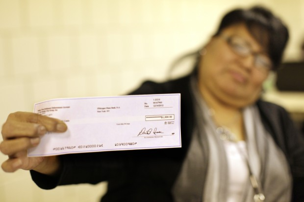 Cobell checks just in time for LNI, Christmas cash
