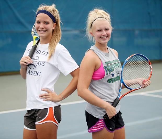 High School Tennis A Talented Raider Duo