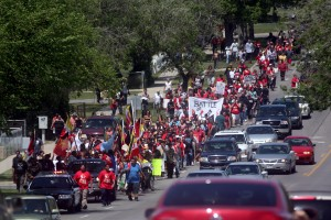 Hundreds protest alleged mistreatment of Native patient