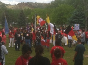 March, rally underway for Lakota man
