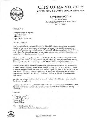 Denial Letter From The City Of Rapid City