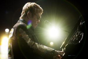 Elton John & His Band performs at civic center