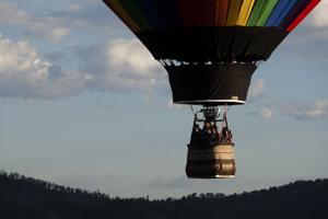 Balloons fill the sky during Gold Discovery Days